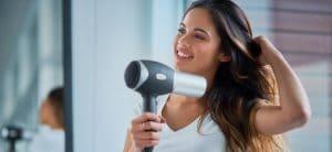 Sèche-cheveux sans fil caractéristique