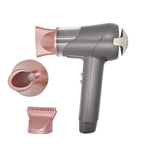Sèche-cheveux professionnel, portable sans fil Sèche-cheveux 4900Mah de charge de la batterie grande capacité Trois d'air froid à chaud LED Air Display Power pour l'extérieur Voyage