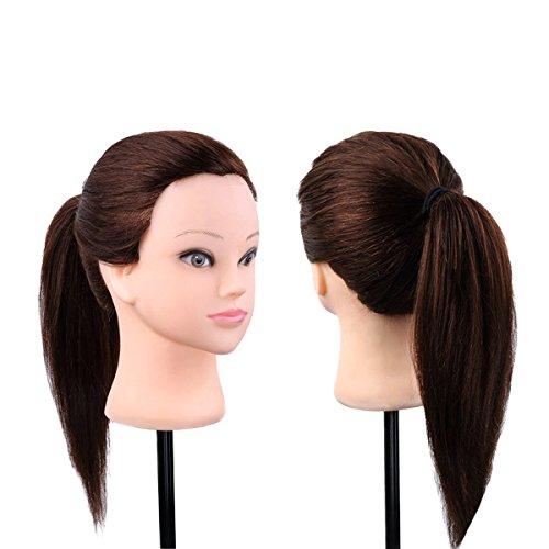 Têtes d'exercice pour coiffure Têtes à Coiffer Mannequin d'entrainement pour Le Salon Coiffeur Cosmétique Professionnelle
