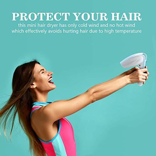VLOXO Sèche-Cheveux sans Fil Séchoir DC Design de Vent Froid avec Poignée Pliable et Cordon Rechargeable pour l'Intérieur l'Extérieur Peinture