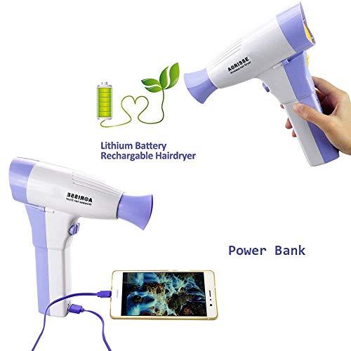 YTcoo Sèche-Cheveux sans Fil portatif, Batterie au Lithium Multifonction Rechargeable 4500mAh pour Les déplacements à la Maison et à l'extérieur [Classe d'efficacité énergétique A]