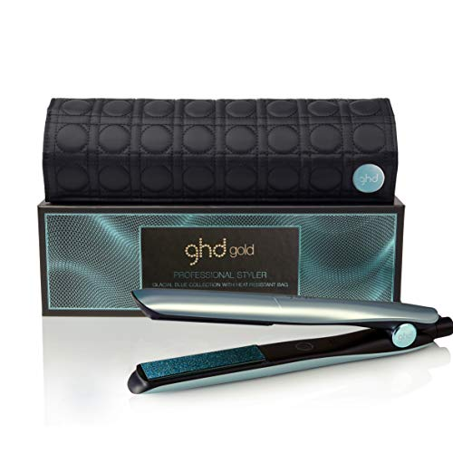 ghd Gold Glacial Blue Styler Limited Edition Hair Straightener