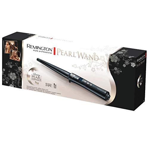 Remington Fer à Boucler, Boucleur Conique Advanced Ceramic, Soin Eclats de Perles, Cheveux Brillants - CI95 Pearl