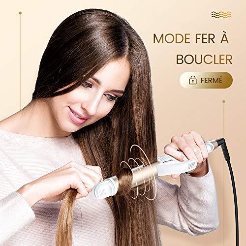 FURIDEN Lisseur Boucleur Cheveux 2 en 1 - Lisseur Cheveux, Fer a Lisser et Boucleur 2 en 1-28mm