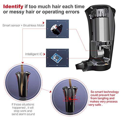 iGutech Fer à Boucler automatique, Fer à friser automatique avec chauffage céramique en Tourmaline et affichage numérique LED