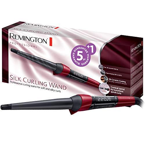 Remington CI96W1 Fer à Boucler, Boucleur Conique Céramique Silk, Soin Protéine de Soie
