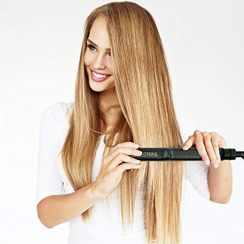 MadameParis - Lisseur Professionnel ANA - Fer à Lisser Professionnel - Produit de l'année - Plaques Nano Céramique - Lisseur Cheveux