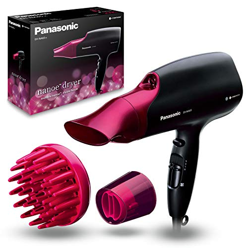 Panasonic Eh-Na65-K825 Sèche-Cheveux Avec Diffuseur | Nanoe (Technologie Ionique Avancée) | Protection Des Cheveux | Style Professionnel | 2000 W, Noir et Rose