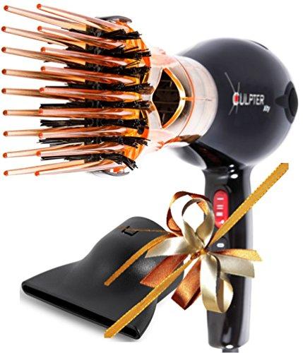 Xculpter Xity - Sèche Cheveux Diffuseur Brosse Lissante Professionnel Compact Ionique