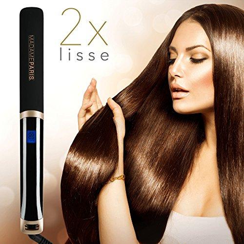 MadameParis - Lisseur Nina- Infrarouge - Fer à Lisser - Lisseur Cheveux Professionnel Plaques en Céramique - Technologie Ionique - Technologie Infrarouge Ultra Rapide