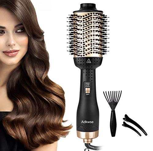 Adkwse Brosse à cheveux multifonction 5 en 1 Brosse à air chaud - Pour tous types de cheveux (cadeaux de Noël)